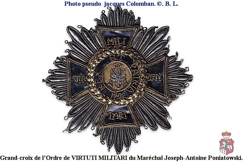 Les généraux de Napoléon 1er décorés des ordres Polonais. Poniat10