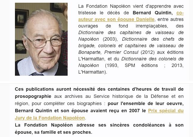 Un historien vient de nous quitter, Monsieur Bernard Quintin. Quinti10
