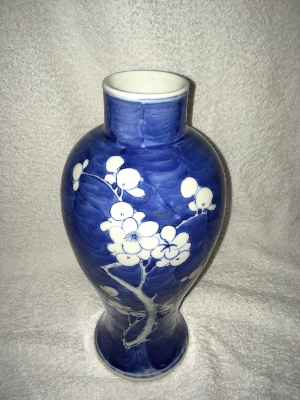 Chinese porcelain prunus vase , is it modern or old? - faux Kangxi mark  45368310