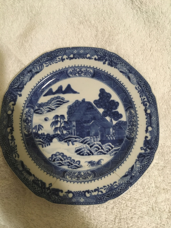 Chinese blue & white porcelain plate? 9b00bb10