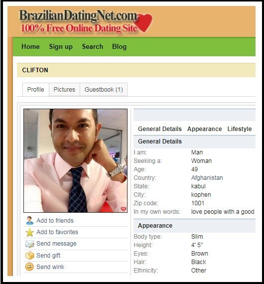 Senegal Fake Male Profiles 16108