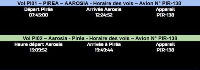 HORAIRES DES VOLS Pirea-10