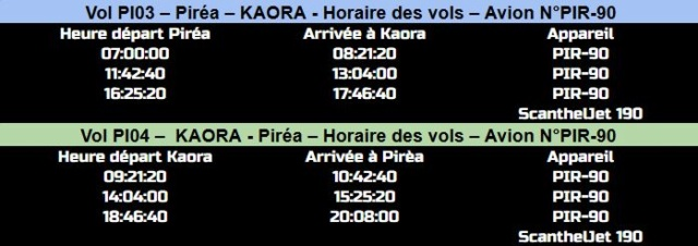 HORAIRES DES VOLS Pirea-16