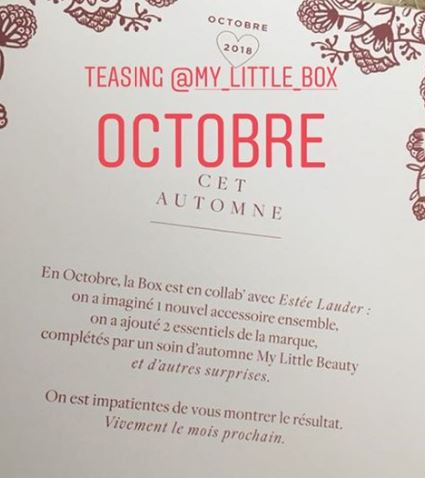 "[Octobre 2018] My Little Box ""Estée Lauder"" Mlb_oc10"
