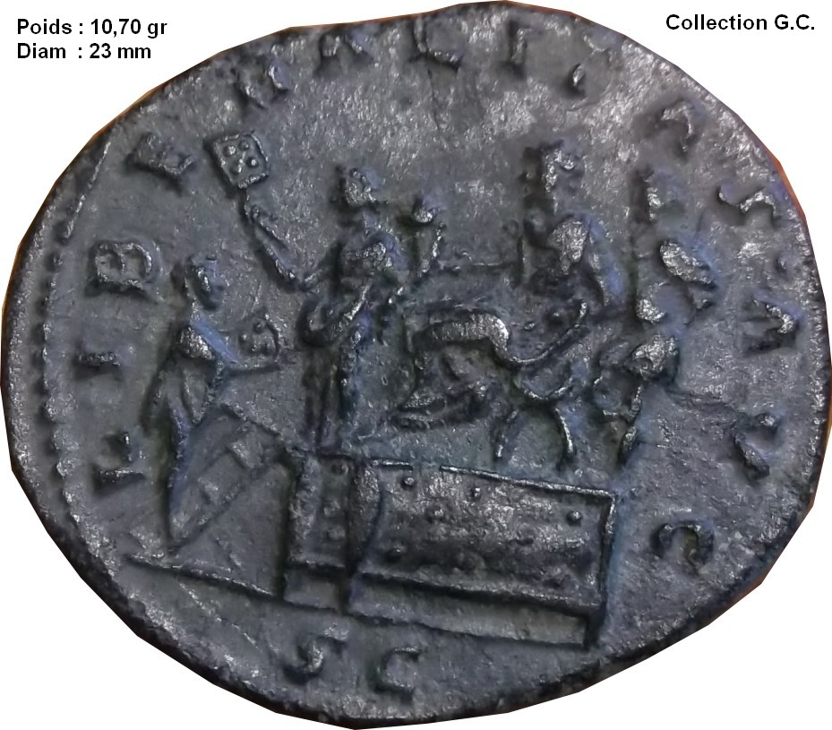 Identification Romaine  bronze POP ROMANUS ric 21  As_de_13