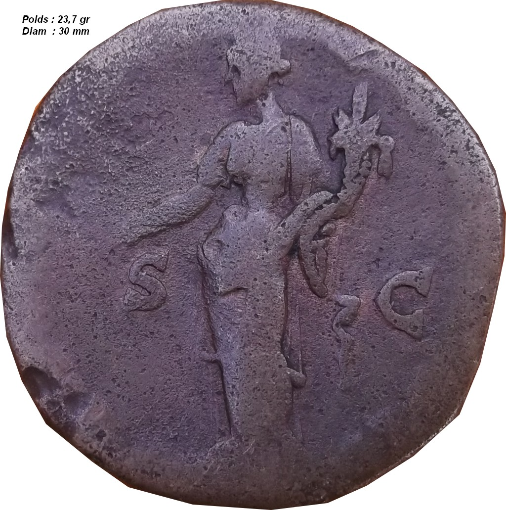 Identification Romaine ( sesterce Antonin le pieux ) B310