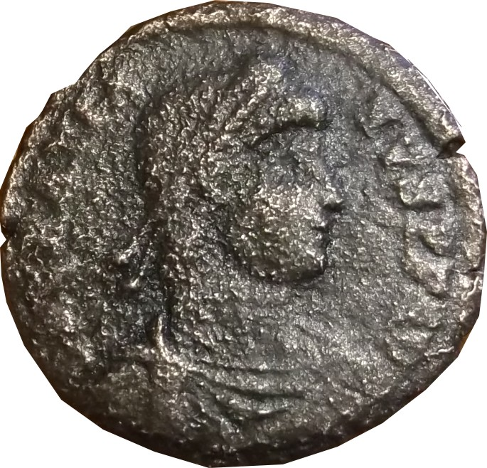 Identification romaine légendes illisibles  ( GRATIEN  atelier ARLES ric 20 a) Constt10