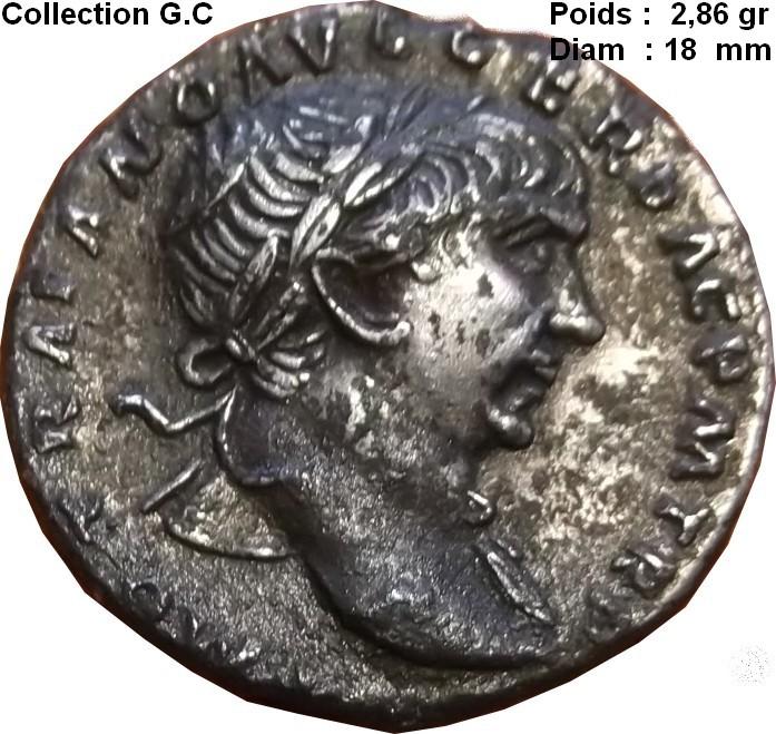 Confirmation N° ric denier de Trajan SPQR  Ric 128  Denier19