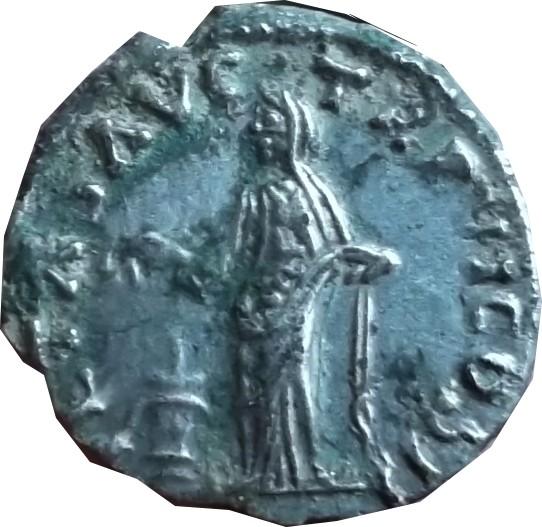 Revers a identifier ,  d'un denier d'Antonin le pieux ( faux d'époque  ) Dscf7111