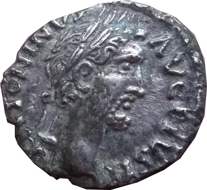 Revers a identifier ,  d'un denier d'Antonin le pieux ( faux d'époque  ) Dscf7112