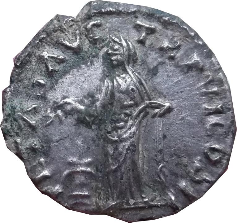 Revers a identifier ,  d'un denier d'Antonin le pieux ( faux d'époque  ) Dscf7113