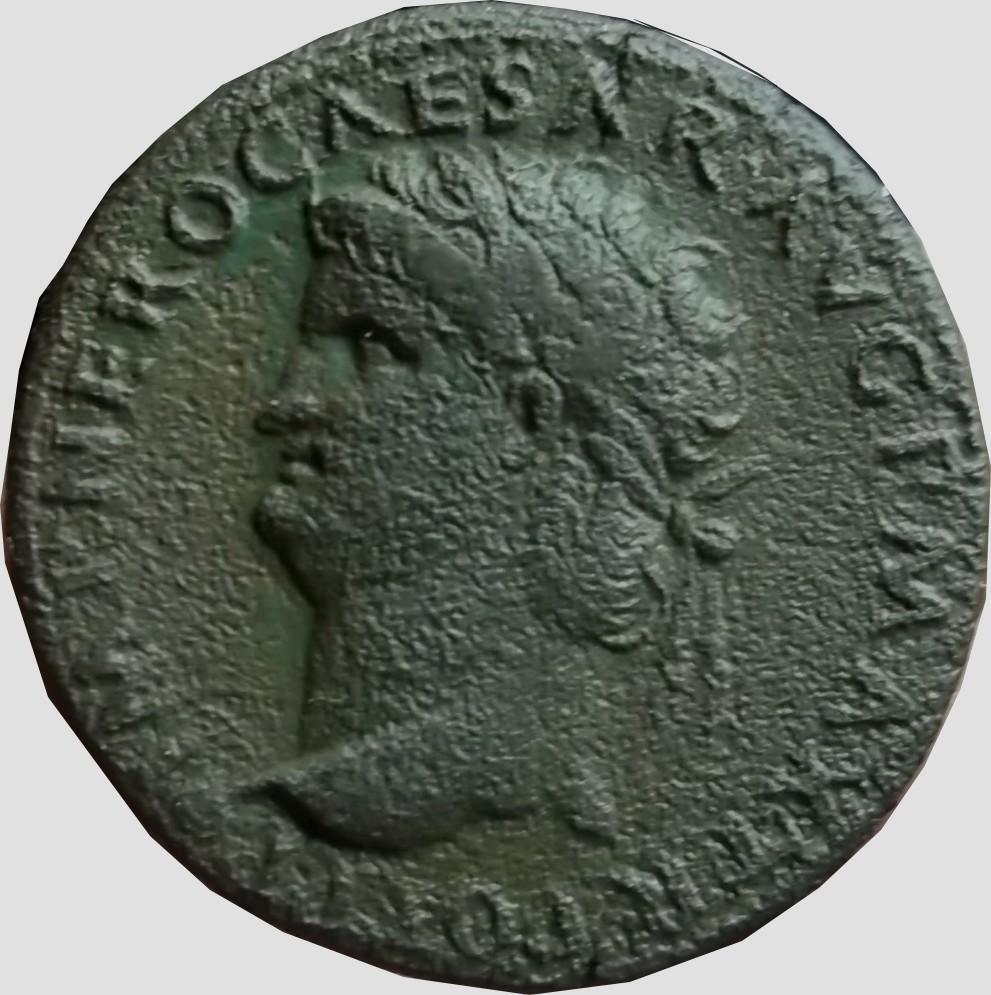 Confirmation identification Dupondius de Neron atelier de  Lyon Ric 523 Dupond10