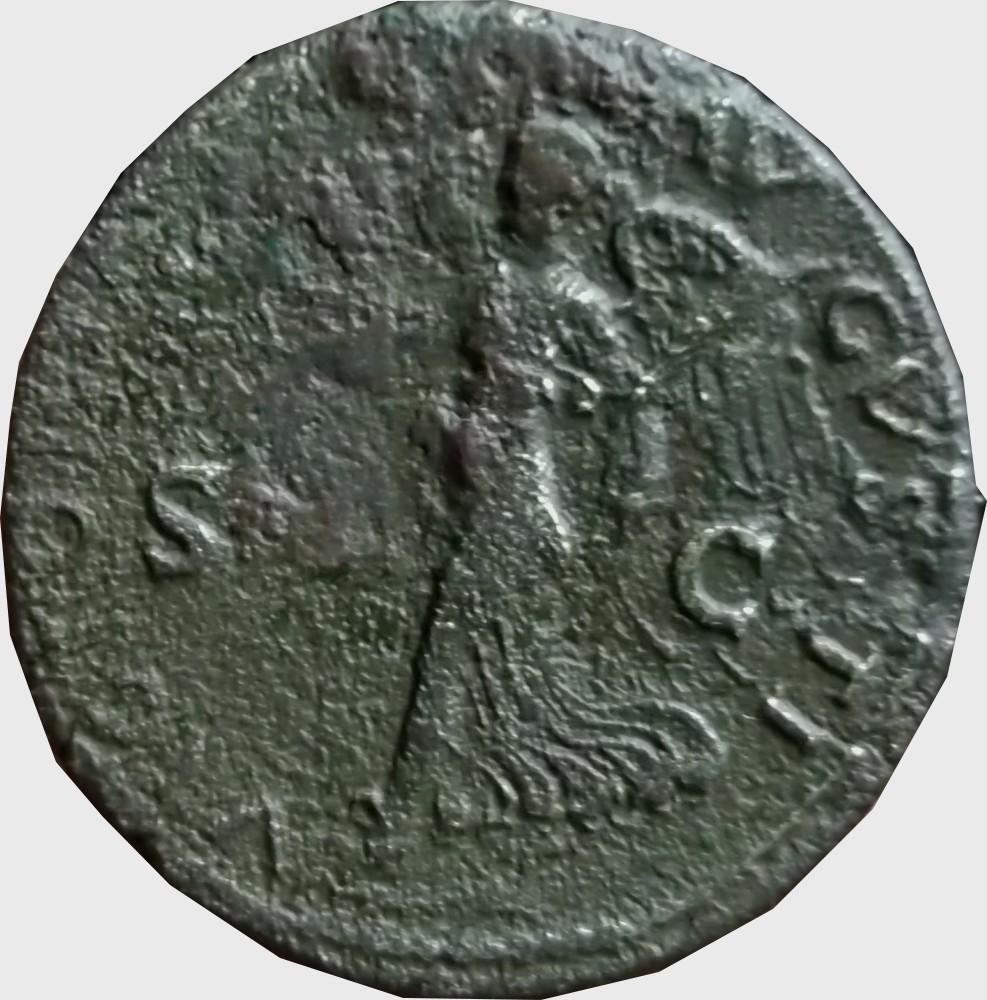 Confirmation identification Dupondius de Neron atelier de  Lyon Ric 523 Dupond11