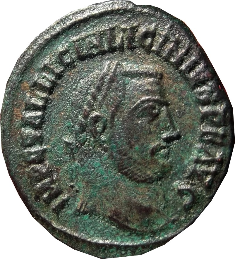 Confirmation identification Licinius 1 Alexandrie Ric 14( R1 ) Licinu13