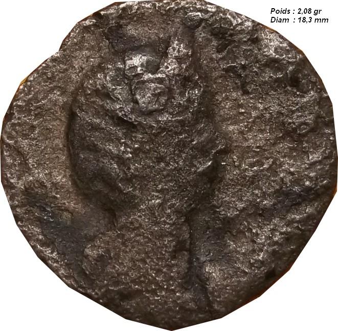 Identification Romaine  en plombs ( antoninien de Salonine ) Monnai15