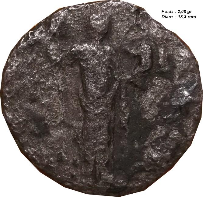 Identification Romaine  en plombs ( antoninien de Salonine ) Monnai16