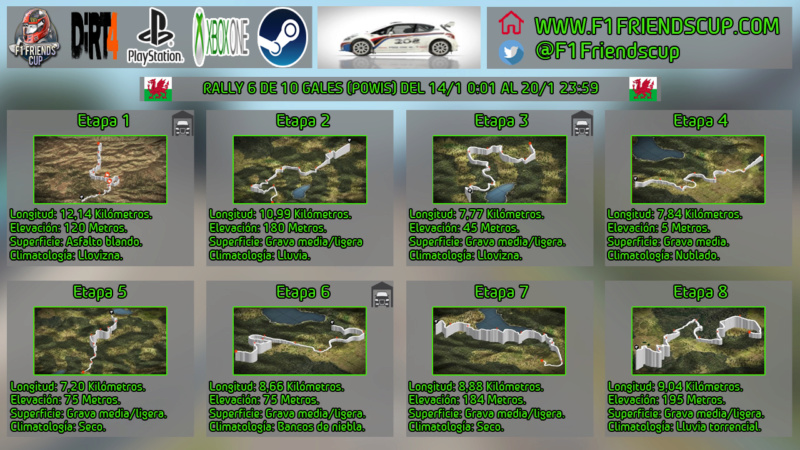   DIRT 4 RALLY 6 DE 10   POWIS, GALES   PEUGEOT 208 R5 T16 318