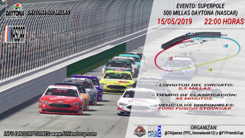 | EVENTO PC2: II CARRERA 500 MILLAS DAYTONA | SORTEO Y RESULTADOS SUPERPOLE 500mil11