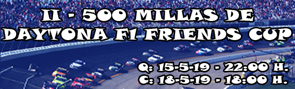 | EVENTO PC2: II CARRERA 500 MILLAS DAYTONA | INFORMACIÓN DEL EVENTO E INSCRIPCIONES 600xp10