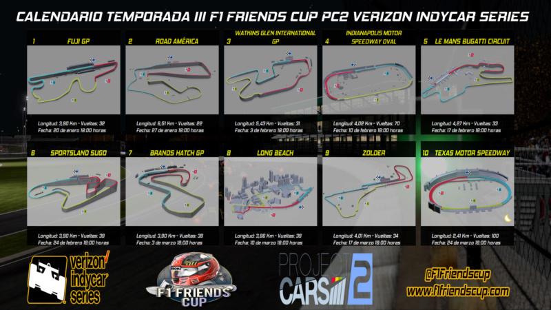 | PC2 INDYCAR T.III | SORTEO DEL CALENDARIO Calend10