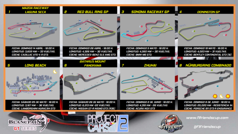 | PC2 BLANCPAIN GT3 SERIES | Cambios en el calendario Calend15