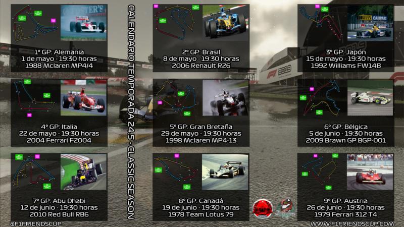 | F1 19 T. 24,5 | CALENDARIO TEMPORADA 24,5 Calend23