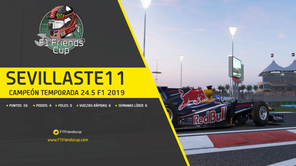 | F1 19 | Sevillaste11 campeón Temporada 24.5 Classic Season Campez14
