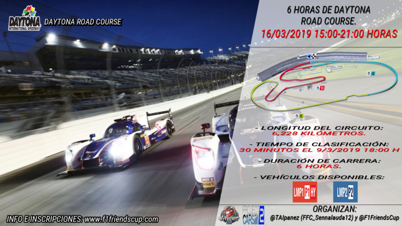 | PC2 EVENTO 6 HRS DAYTONA ROAD | INFORMACIÓN E INSCRIPCIONES Dayton13