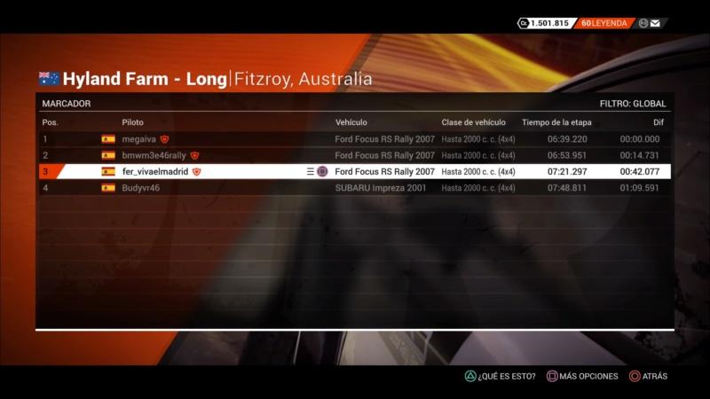 | DIRT 4 RALLY 4 DE 10 | FITZROY, AUSTRALIA | GRUPO UP TO 2000CC (4WD) Dirt_426
