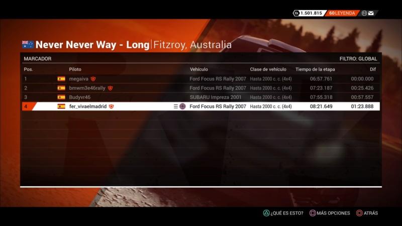 | DIRT 4 RALLY 4 DE 10 | FITZROY, AUSTRALIA | GRUPO UP TO 2000CC (4WD) Dirt_429