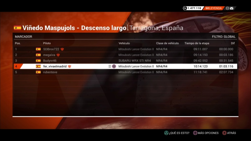 | DIRT 4 RALLY 5 DE 10 | TARRAGONA, ESPAÑA | GRUPO UP TO NR4/R4 Dirt_433