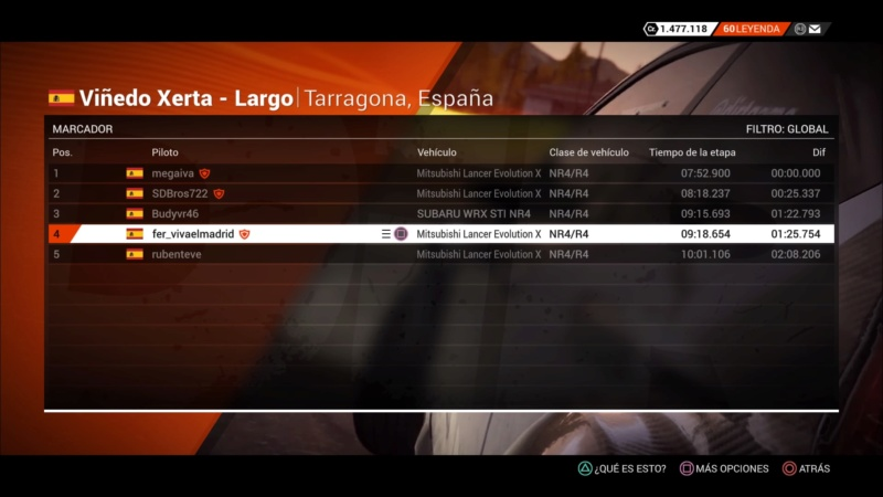 | DIRT 4 RALLY 5 DE 10 | TARRAGONA, ESPAÑA | GRUPO UP TO NR4/R4 Dirt_437