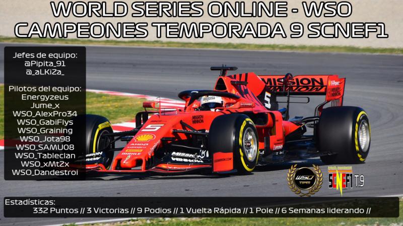 | SCNEF1 T.IX | ¡World Series Online - WSO nuevo campeón de la #SCNEF1! Formul10