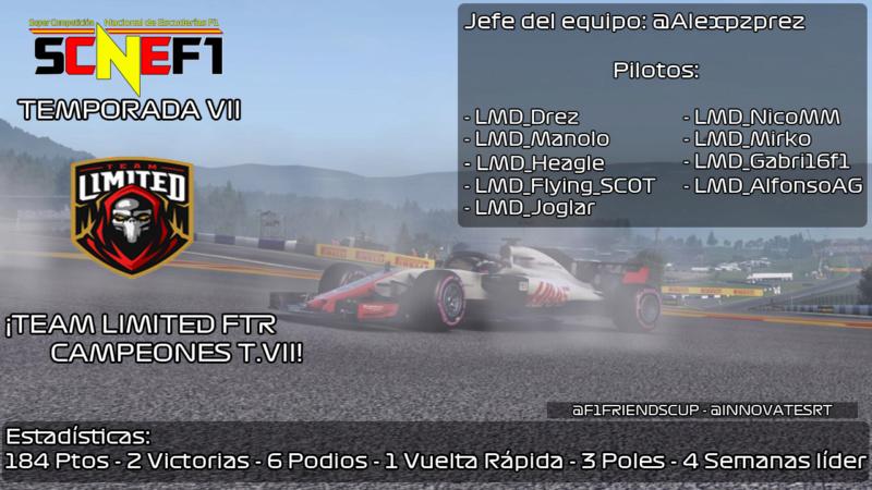 | #SCNEF1 T.VII | ¡Tenemos campeón! Team Limited FTR se proclama bicampeón de la SCNEF1 Lmdcha11