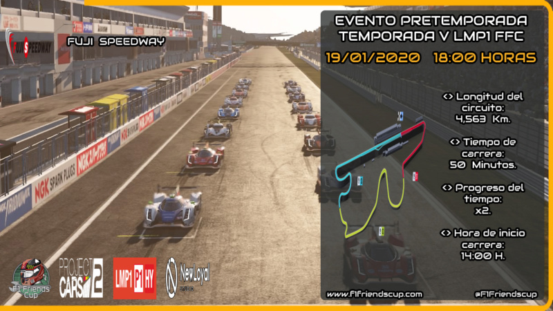 | PRETEMPORADA PC2 | FUJI SPEEDWAY DOMINGO 19 DE ENERO 18:00H Miniat24