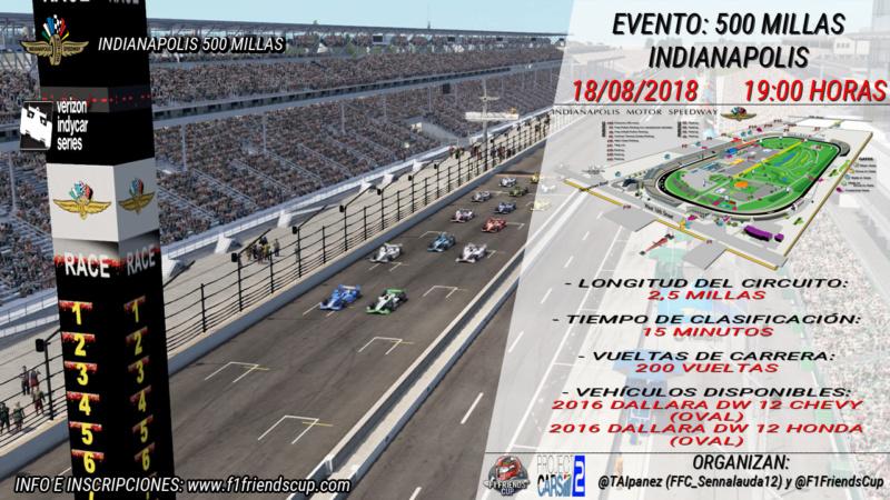 | PC2 EVENTO INDY 500 | El día que hicimos la carrera más larga en F1 Friends Cup Projec12
