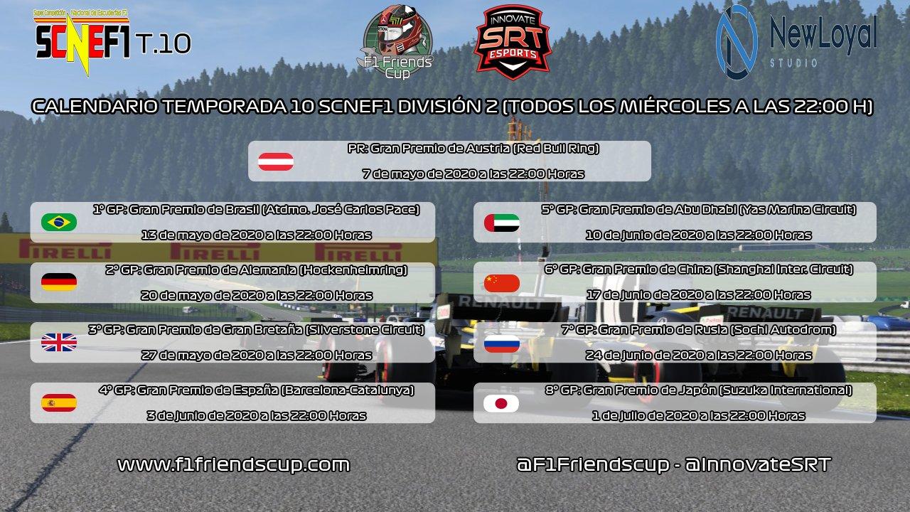| SCNEF1 T.X | CALENDARIO SCNEF1 T.X DIVSIÓN 2 Xzltah10