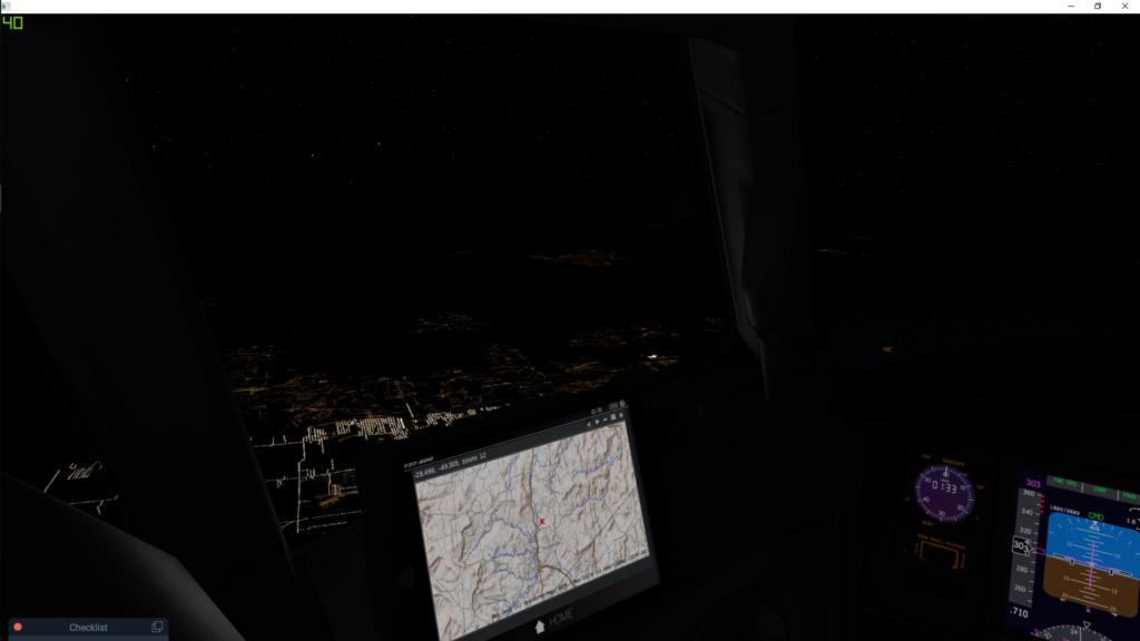 Distancia de visualização das luzes das cidades Xplane10