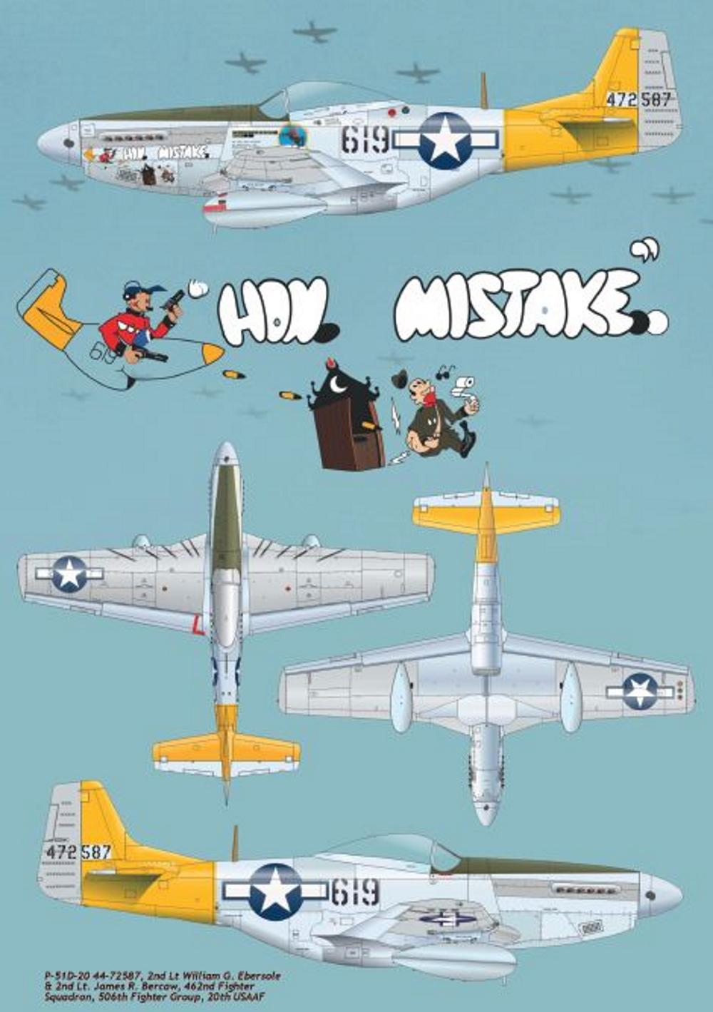 NORTH AMERICAN P-51 MUSTANG P51-6-13