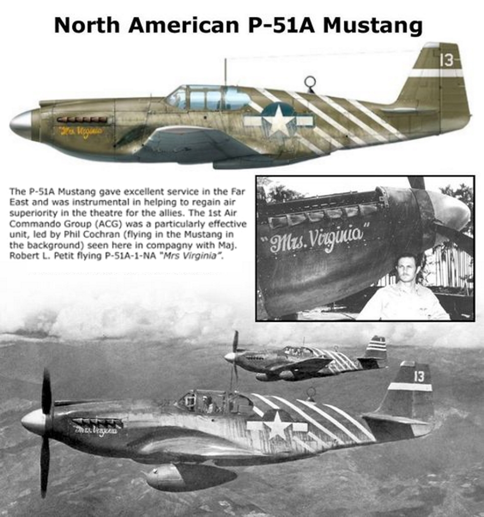 NORTH AMERICAN P-51 MUSTANG P51a-210