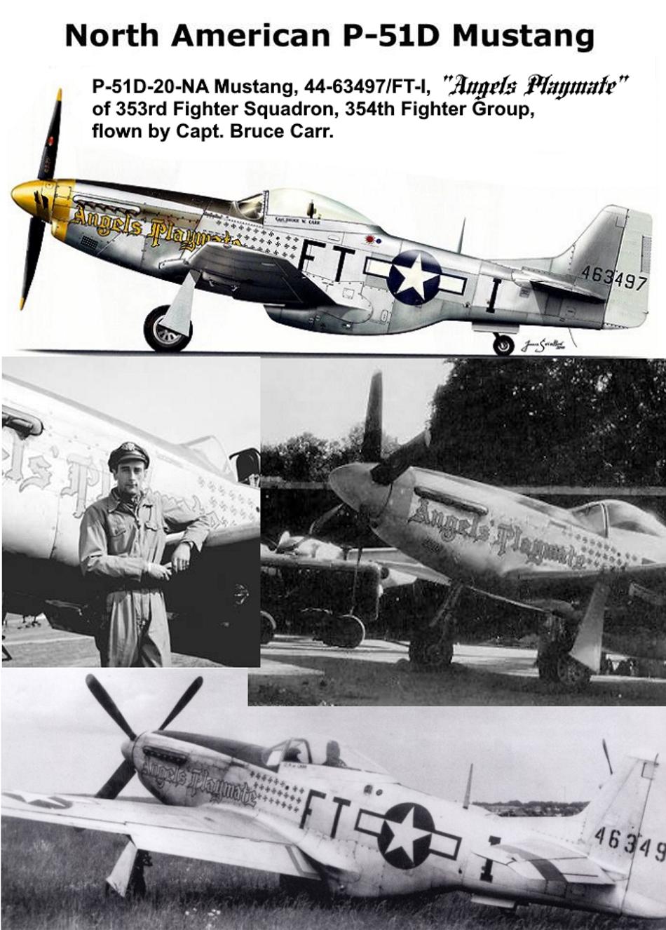 NORTH AMERICAN P-51 MUSTANG P51d-123