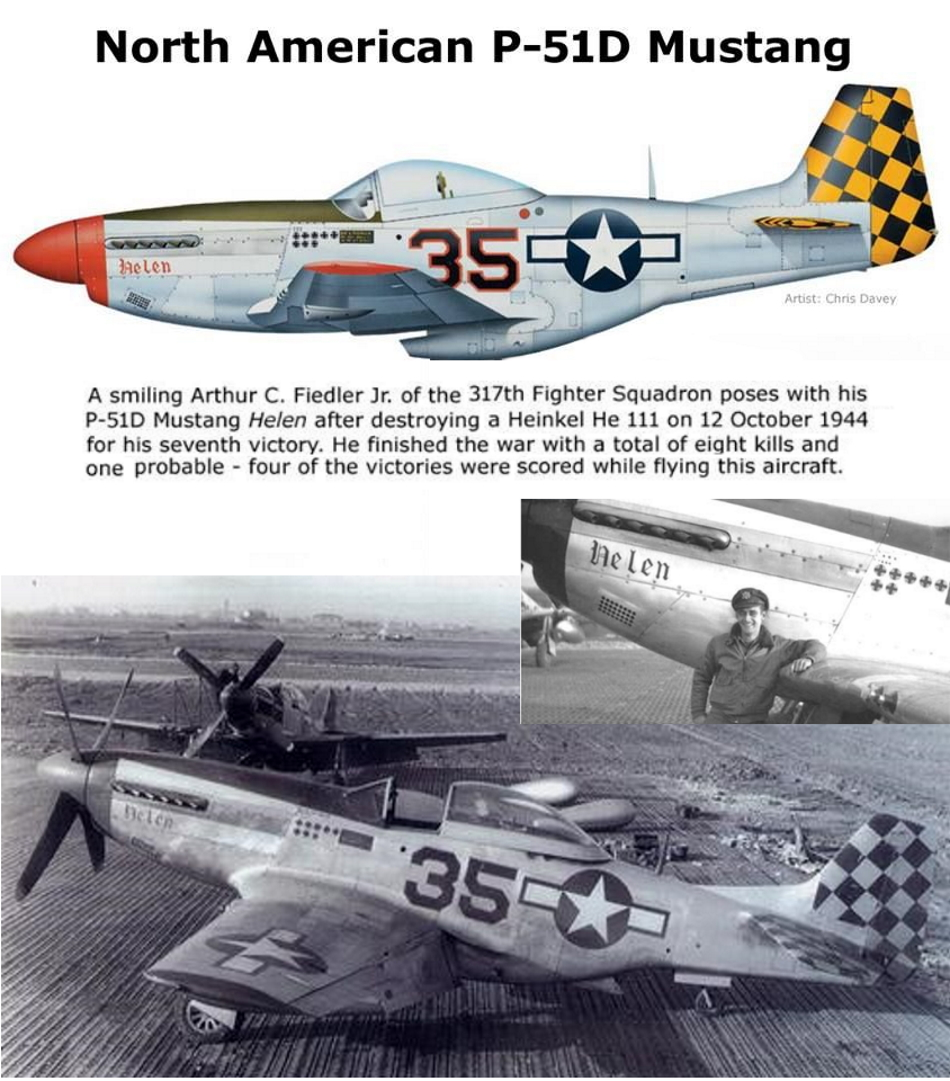 NORTH AMERICAN P-51 MUSTANG P51d-127