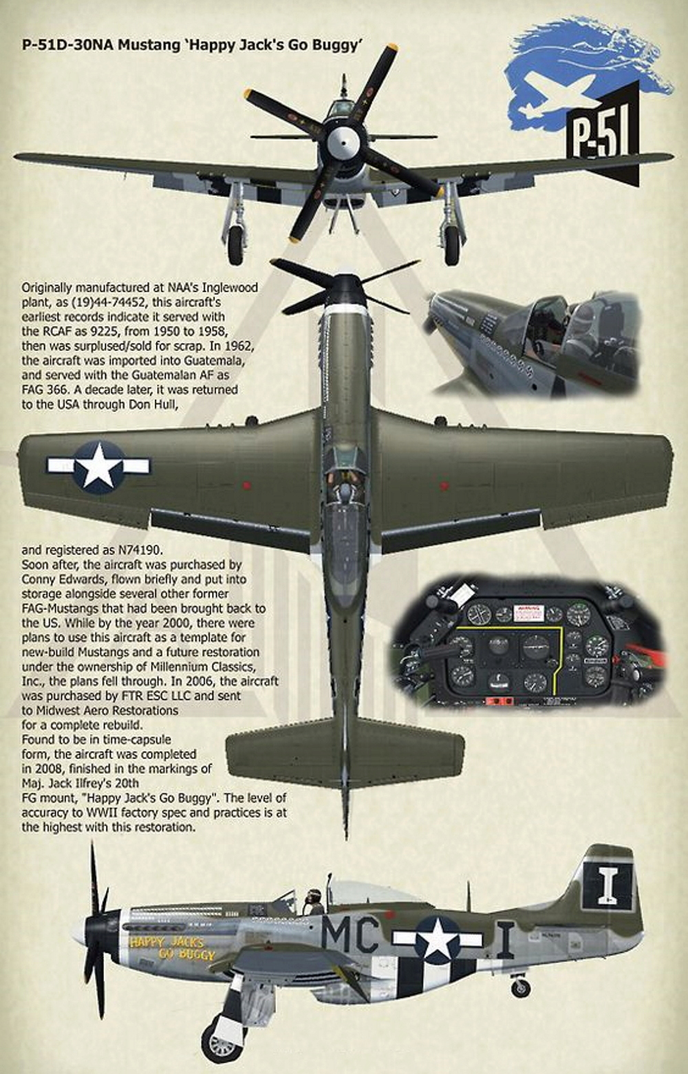 NORTH AMERICAN P-51 MUSTANG P51d-311