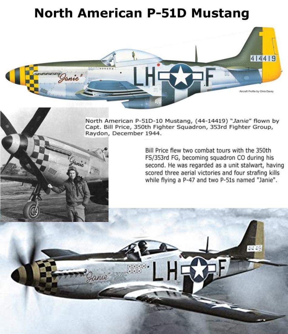 NORTH AMERICAN P-51 MUSTANG P51d-316
