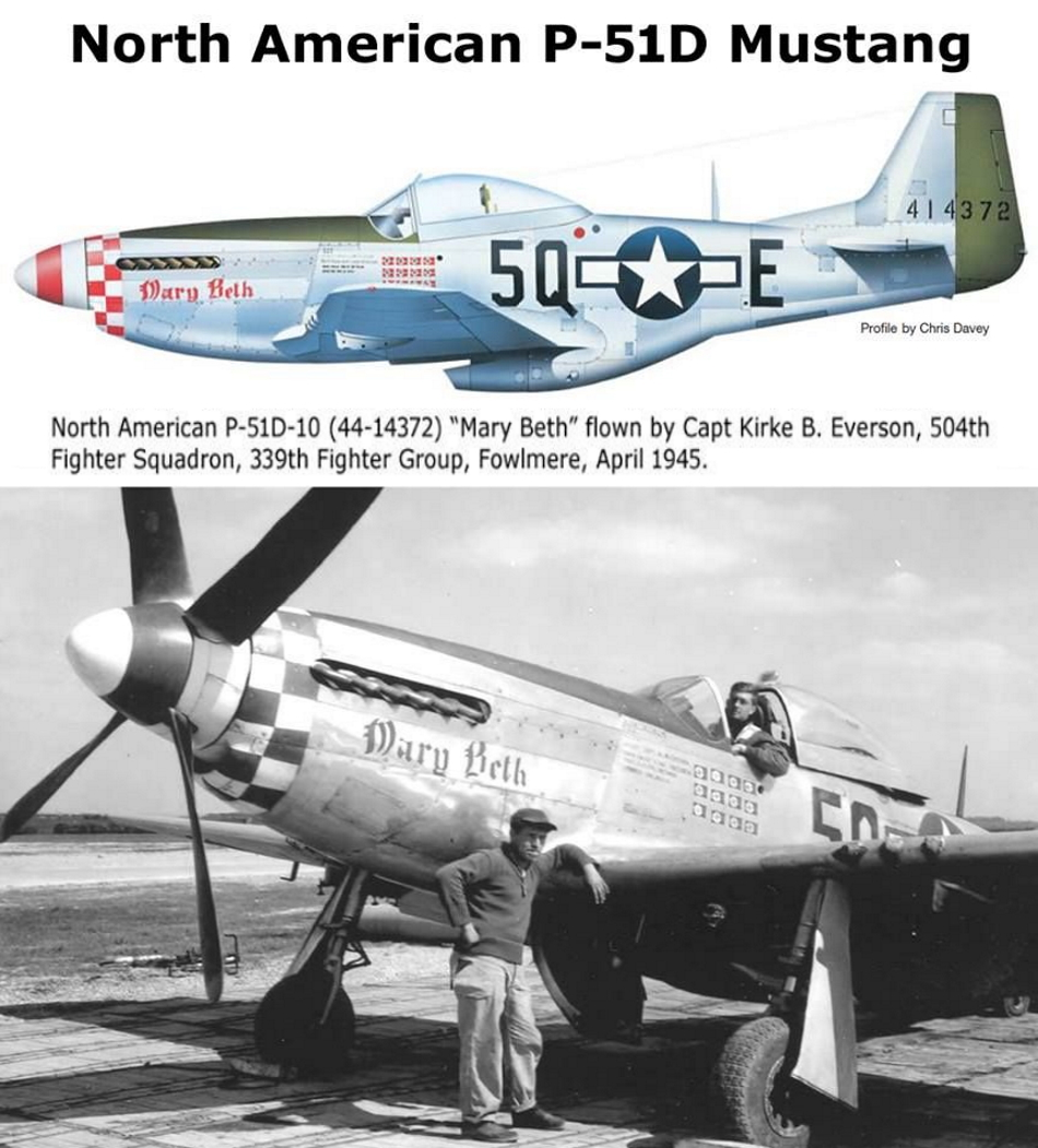NORTH AMERICAN P-51 MUSTANG P51d-317
