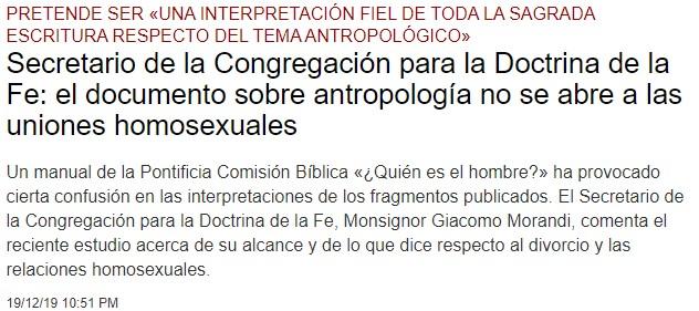 """""""Las uniones homosexuales como expresión legítima y digna del ser humano"""" Anotac10"""