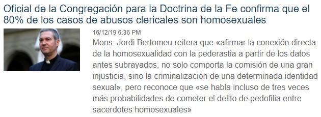 """""""Las uniones homosexuales como expresión legítima y digna del ser humano"""" Mas10"""