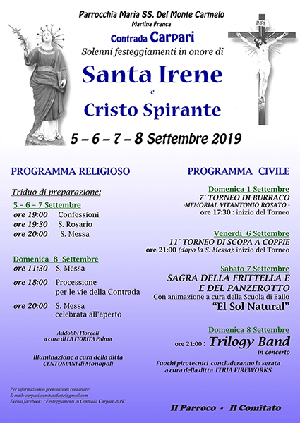 Festeggiamenti Contrada Carpari - Sagra panzerotto sabato 7 settembre Camper10