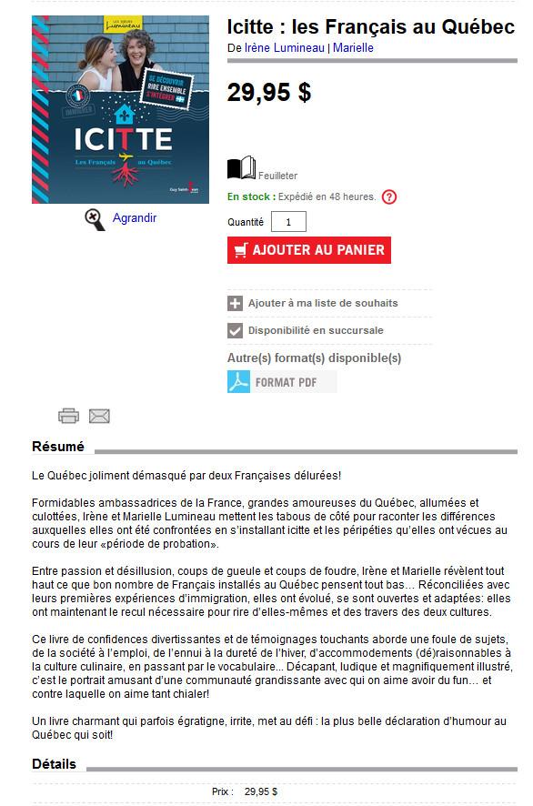 Icitte... Nouveau livre sorti au Québec Icitte10
