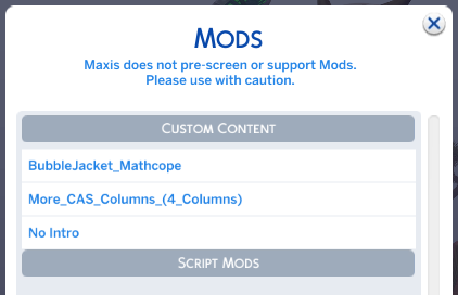 sims 4 cc doesn't show up anywhere. [SOLVED] 111